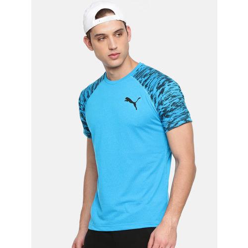 Puma Men Blue Printed drirelease SS T-shirt