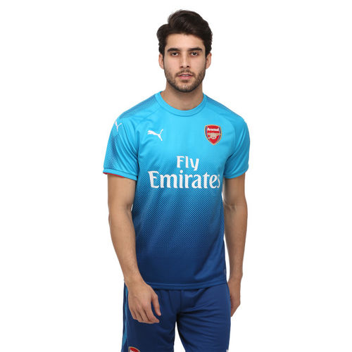 Puma Men Blue Arsenal F.C. Away Printed Round Neck T-shirt