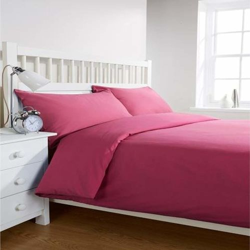 COT PRINTS 100% Cotton 300 TC King Size Bed Sheet Set (1 Sheet and 2 Pillow Covers)(Pink)