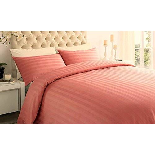 Comfy cotton Comfy Cotton Dynamic 210 TC King Size Cotton Double Bedsheet with 2 Pillow Covers 108X108 Inch (Peach)