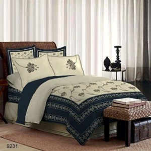 Bombay Dyeing Premium Rohit Bal 300 TC 100% Cotton King Size Bedsheet with 4 Pillow Covers