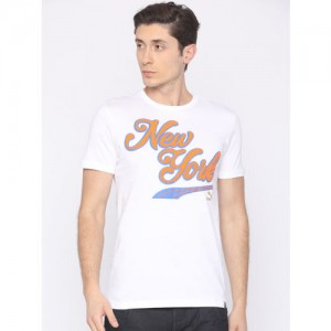 Puma Men White Printed Breakdance T-shirt