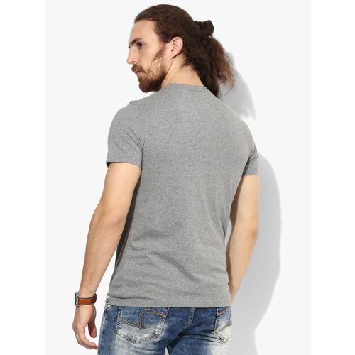 Puma Grey Graphic Round Neck T-Shirt