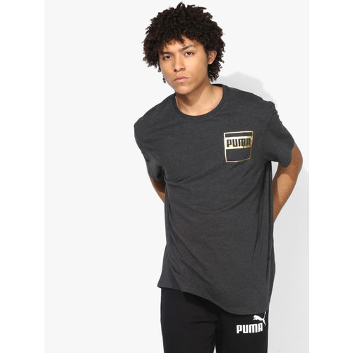 Puma Rebel Dark Grey Round Neck T-Shirt