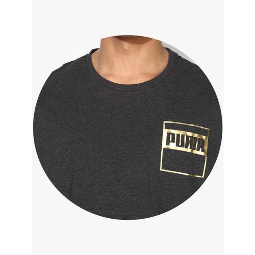 Puma Rebel Dark Grey Round Neck T-Shirt