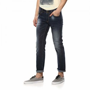 Spykar Mens Narrow Fit Low Rise Jeans (Renegade)