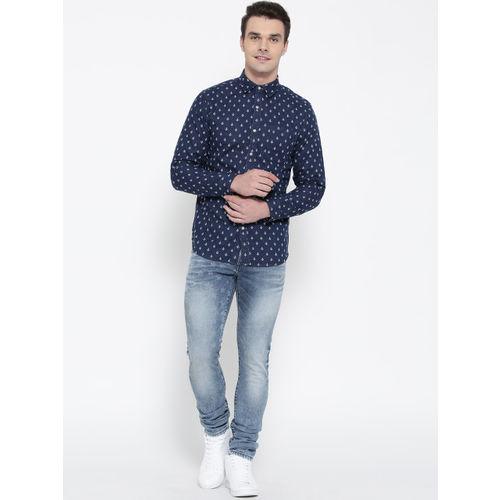 Jack & Jones Men Blue Slim Fit Low-Rise Clean Look Stretchable Jeans
