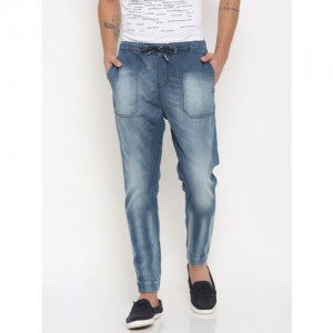 Being Human Men Blue Regular Fit Low-Rise Clean Look Stretchable Jeans