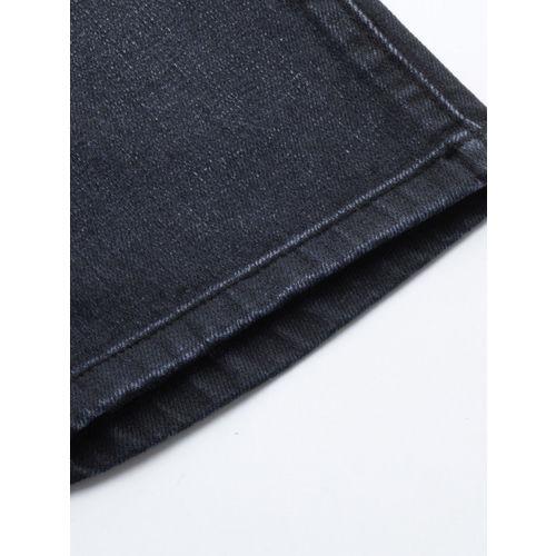 Calvin Klein Jeans Men Navy Blue Slim Fit Mid-Rise Clean Look Stretchable Jeans