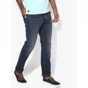 Calvin Klein Jeans Navy Blue Mid-Rise Slim Fit Jeans