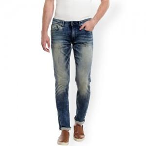 Jack & Jones Men Blue Slim Fit Low-Rise Low Distress Stretchable Jeans