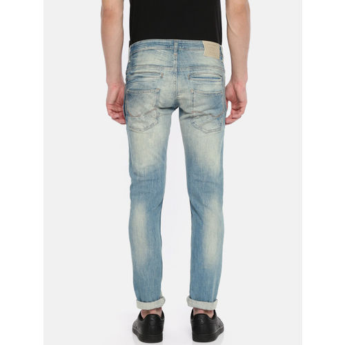 Jack & Jones Men Blue Slim Fit Low-Rise Clean Look Stretchable Jeans