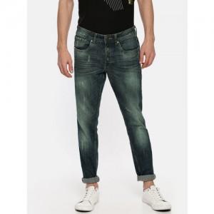 Jack & Jones Men Blue Slim Fit Low-Rise Mildly Distressed Stretchable Jeans