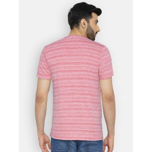 Numero Uno Red Striped Round Neck T-shirt