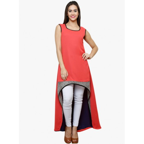 Castle Coral Orange Georgette Kurta