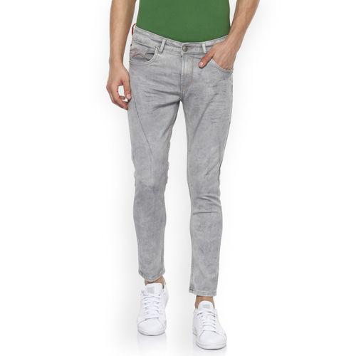 SPYKAR Men Grey Slim Fit Low-Rise Clean Look Jeans