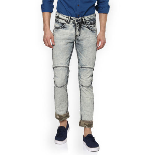 SPYKAR Men Grey Slim Fit Low-Rise Clean Look Jeans