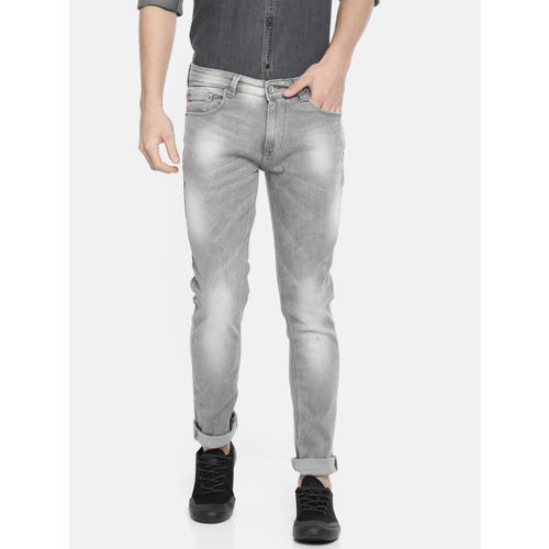 e0650897 ... SPYKAR Men Grey Skinny Fit Low-Rise Clean Look Stretchable Jeans ...