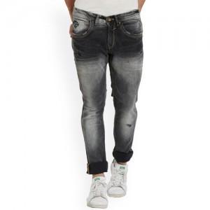 SPYKAR Men Grey Skinny Fit Mid-Rise Low Distress Jeans