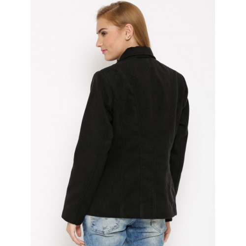 Numero Uno Black Single-Breasted Blazer