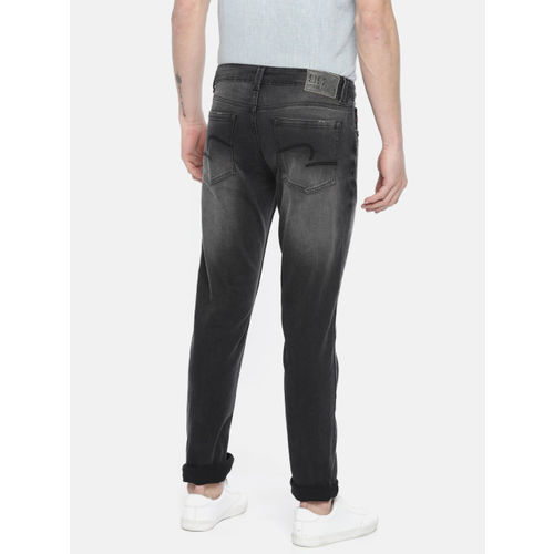 SPYKAR Men Rovers Black Slim Fit Low-Rise Clean Look Stretchable Jeans