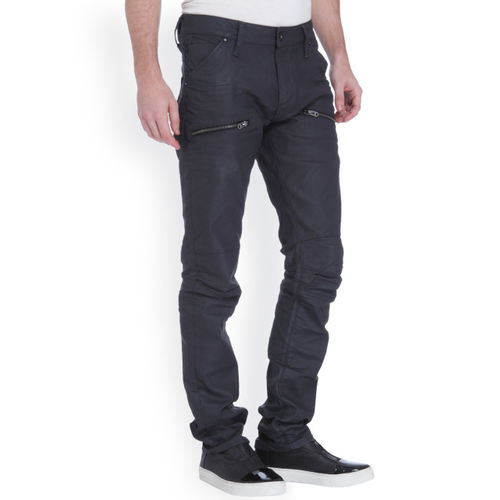 Jack & Jones Men Black Slim Fit Low-Rise Clean Look Jeans