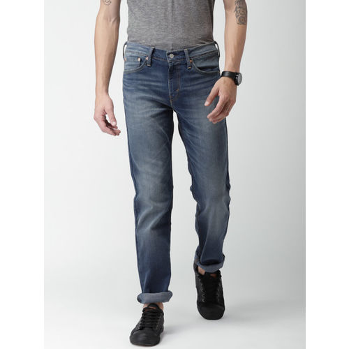 Levis Men Blue Skinny Fit Mid-Rise Clean Look Stretchable Jeans 511