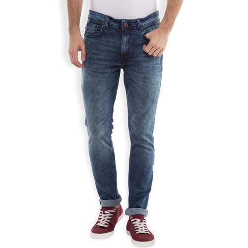 LOCOMOTIVE Men Blue Dragon Fit Mid Rise Clean Look Jeans
