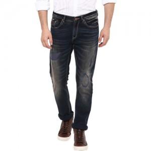 SPYKAR Men Navy Super-Skinny Fit Low-Rise Mildly Distressed Jeans