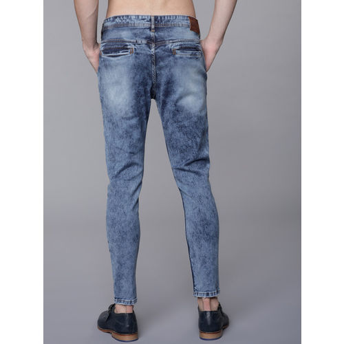 LOCOMOTIVE Men Blue Slim Fit Mid-Rise Highly Distressed Stretchable Jeans