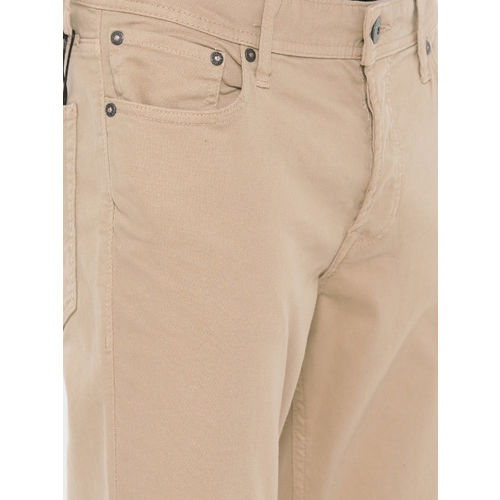 7c2a68dba5c Jack & Jones Men Beige Slim Fit Mid-Rise Clean Look Stretchable Jeans ...