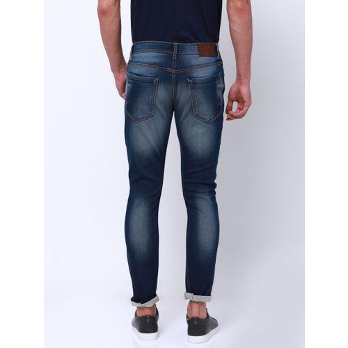 LOCOMOTIVE Men Blue Slim Fit Mid-Rise Clean Look Stretchable Jeans