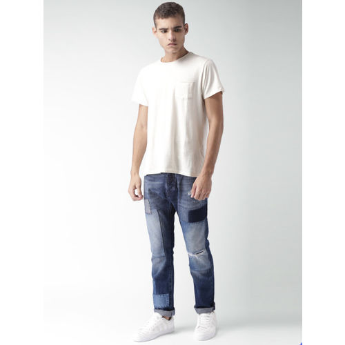 Tommy Hilfiger Blue Washed Mid Rise Slim Fit Jeans
