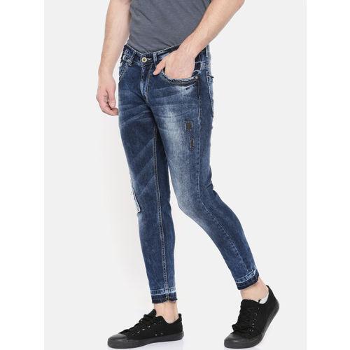 SPYKAR Men Blue Kano Slim Fit Fit Low-Rise Mildly Distressed Stretchable Jeans