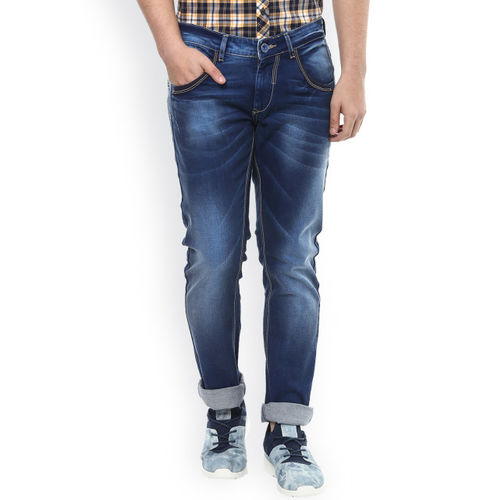 SPYKAR Men Blue Super Skinny Fit Low Rise Clean Look Jeans