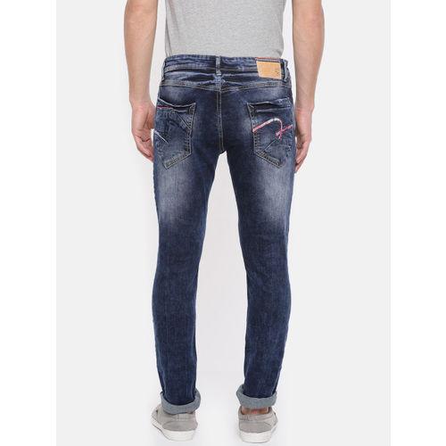SPYKAR Men Blue Skinny Fit Low-Rise Low Distress Stretchable Jeans