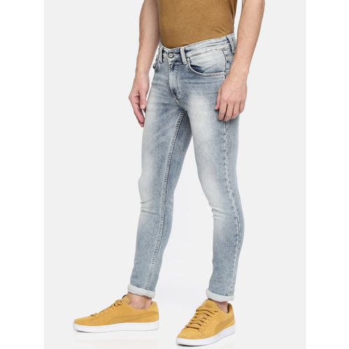 SPYKAR Men Blue Skinny Fit Mid-Rise Clean Look Stretchable Jeans