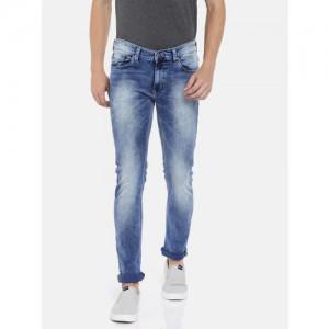 SPYKAR Men Blue Skinny Fit Low-Rise Clean Look Jeans