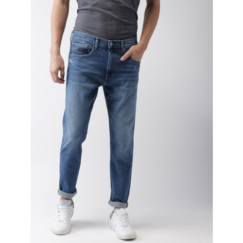 0c593c6bb ... Tommy Hilfiger Men Blue Tapered Fit Mid-Rise Clean Look Stretchable  Jeans ...