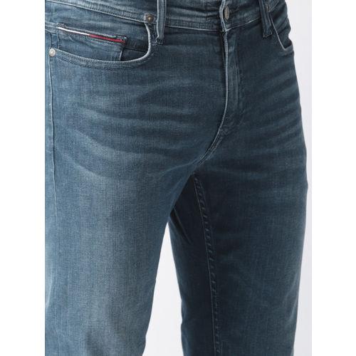 Tommy Hilfiger Men Blue Slim Fit Mid-Rise Clean Look Stretchable Jeans