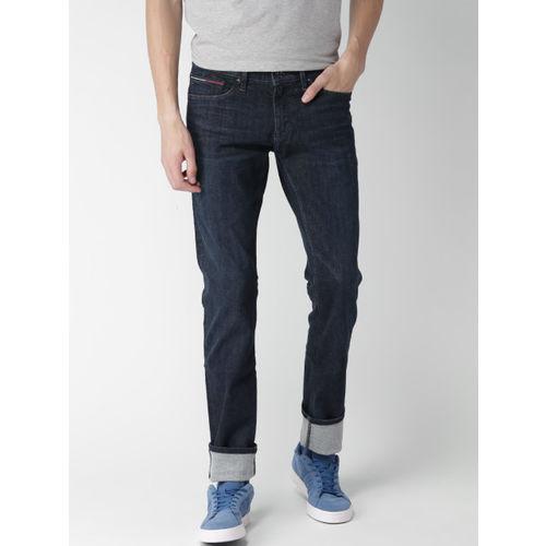 7940eaaf ... Tommy Hilfiger Men Navy Blue Slim Scanton Fit Stretchable Jeans ...
