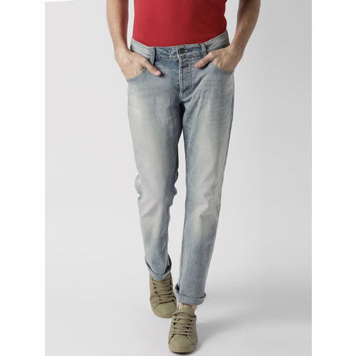 2ff1a124 ... Tommy Hilfiger Men Blue Ryan Straight Fit Mid-Rise Clean Look  Stretchable Jeans ...
