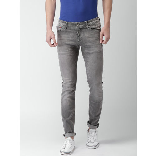 09502ec01 ... Tommy Hilfiger Men Grey Skinny Fit Low-Rise Clean Look Stretchable Jeans  ...