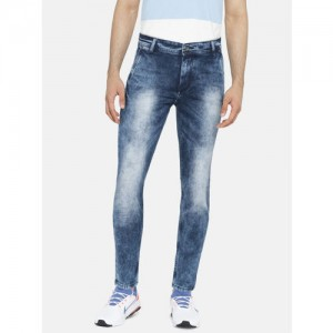 Mufti Men Blue Skinny Fit Stretchable Jeans