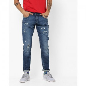 GAS Norton Carrot Fit Low-Rise Distressed Jeans