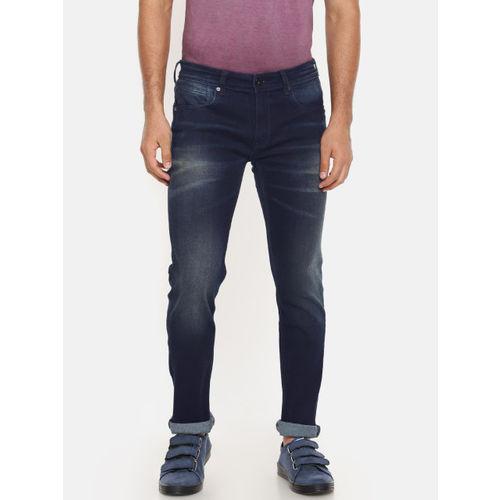 4e28a7d50f ... Pepe Jeans Men Blue Vapour Slim Fit Low-Rise Clean Look Stretchable  Jeans ...