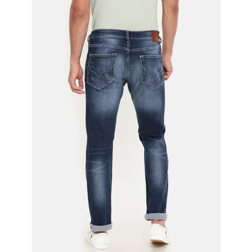 Pepe Jeans Men Blue Slim Vapour Fit Low-Rise Clean Look Stretchable Jeans