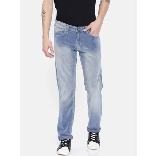 Pepe Jeans Men Blue Slim Skinny Fit Low-Rise Clean Look Stretchable Jeans