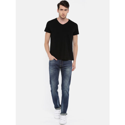 Pepe Jeans Men Blue Slim Fit Low-Rise Clean Look Stretchable Jeans