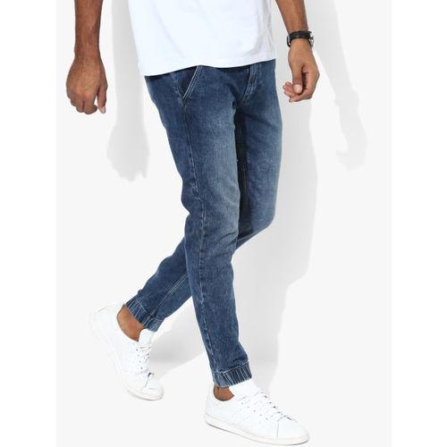 Buy Pepe Jeans Blue Mid Rise Slim Fit Joggers Online Looksgud In